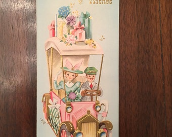 Cute Vintage Anniversary Card/free shipping