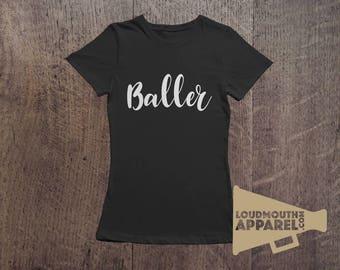 Baller Women's T-Shirt Hipster Gangster Cool Tee