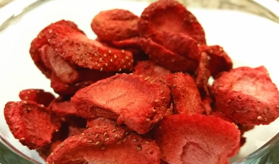 Freeze Dried Strawberries  Sliced No added sugar No gluten no soy no sulfites.