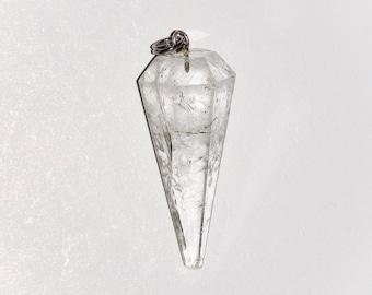Clear Quartz Pendulum Pendant/ Healing Jewelry