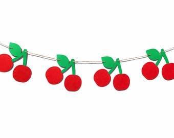 Cherry Banner | Cherry Garland | Cherry Decoration | Cherry Decor | Fruit Decoration | Cherries Banner | Cherries Garland