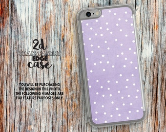 iPhone 7 case purple dots iPhone 6s Case polka dot iphone 6s Plus pattern clear girls iphone 5s case Clear iphone 6 plus case iphone 5 LU338