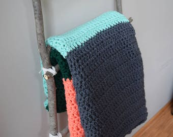 Modern Color Block Blanket