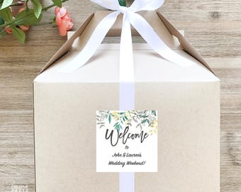 10- Wedding Guest Welcome Box Set / Out of Town Guest Favor Boxes / Destination Wedding Welcome Boxes Set of 10- GBW-202