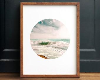 Beach print, PRINTABLE art, Ocean decor, Tropical print, Tropical wall art, Tropical decor, Modern Minimalist print, Modern print, Ocean art