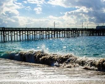 Newport Beach Panoramic print, Balboa Pier