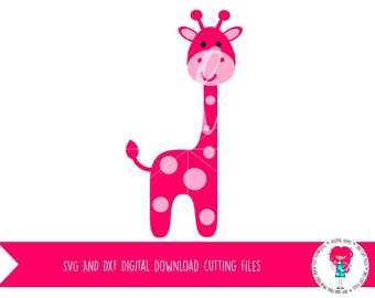 Giraffe SVG / DXF Cutting files for Cricut Explore / Silhouette Cameo, Digital Download, Commercial Use OK