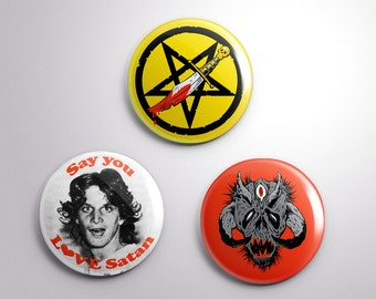 "Say You Love Satan button pack  - set of three 1.25"" buttons"