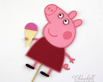 peppa pig cake topper | party centrepiece