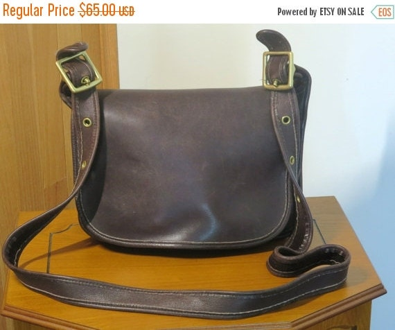 Football Days Sale Coach Patricia's Legacy Bag Brown ( Mahogany) Leather Brass Hardware With 50 Inch Strap No 9941-VGC Made in U.S.A.