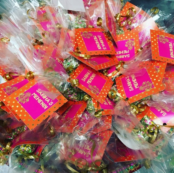 Mehndi Party Bags : Indian wedding favor pakistani mehndi cone