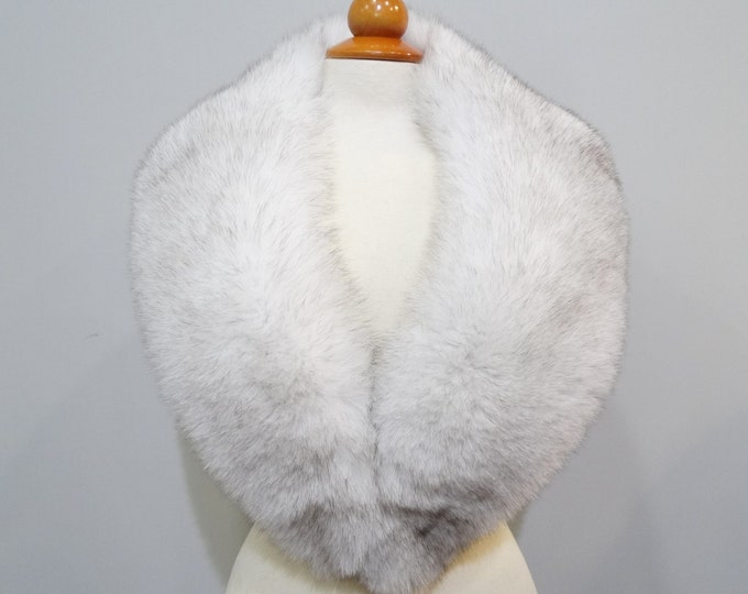 Luxury real large white fox fur collar, No29 F119