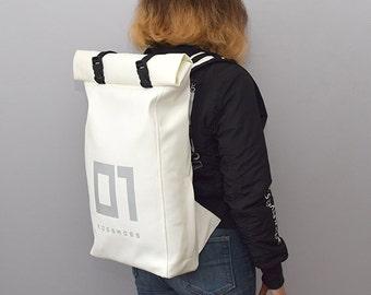 Backpack Purse / Womens Satchel / Vegan Backpack / Eco Backpack / Vegan Leather Backpack Eco Leather backpack City backpack Womenw backpack