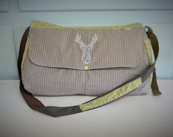 AVAILABLE! Large sling bag / large purse / bag to layer / deer