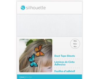 Silhouette Duct Tape Sheets - White