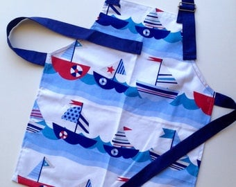 Kids Apron - Sail Away