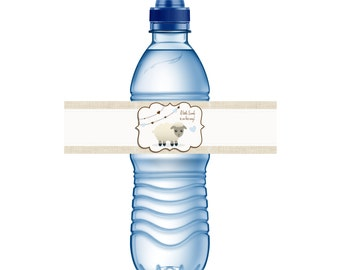 A Little Lamb is on the Way! Water Bottle Labels