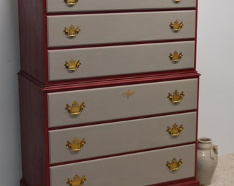SOLD - Beautiful Chest of drawers / tall dresser / bureau / high boy