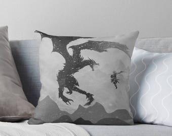 Skyrim Cushion: Elder Scrolls inspired Throw Pillow
