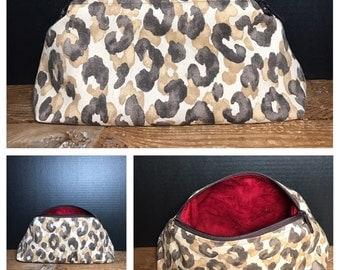 Animal Print Bag | make-up bag, fun bag, money bag, cosmetic bag, everything bag, Plum & Khloe Designs Bag, Zipper Pouch