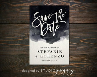 "Watercolor Save the Date 4"" x 6"" Printable, Printable Save the Date, Custom Save the Date"
