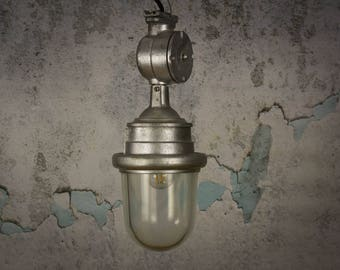 Explosion proof Soviet factory lighting, vintage industrial lamp, pendant light, industrial lighting