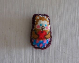 Handmade Miniature Dolls House Teddy Plushie Cushion, Miniatures, Collectibles, Dollhouse, Bedding, Child, Bedroom, Gift, Sister, Daughter