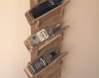 Wine/Liquor Shelf Made From Reclaimed Wood