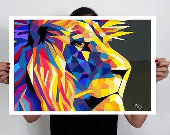 Lion Art Print 60x40 cm