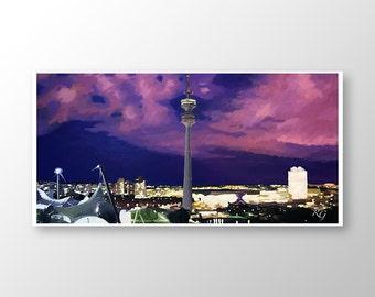 Olympia Park Munich Art Print 60 x 30 cm