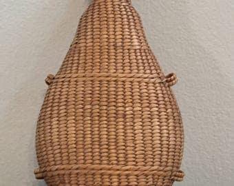 Antique Wicker Flask