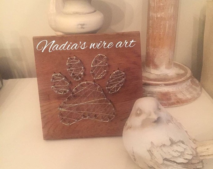 Mini Paw print wire art