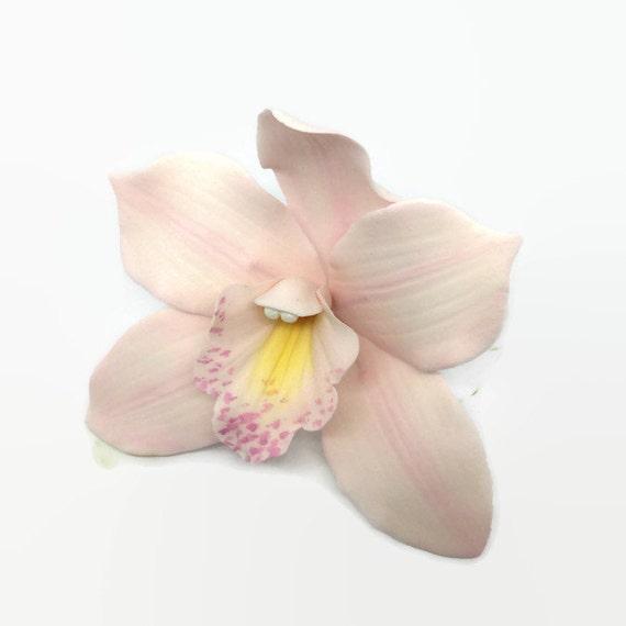 Cymbidium Orchid Sugar Flower, pink gumpaste orchid for tropical wedding cake toppers, bridal showers, diy brides, fondant cake decoration
