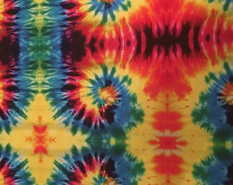 Tie Dye Patterned Adhesive Vinyl, Houndstooth Oracal 651 Vinyl, Orajet Printed Vinyl, Multi-Color Tie Dye Decal Vinyl