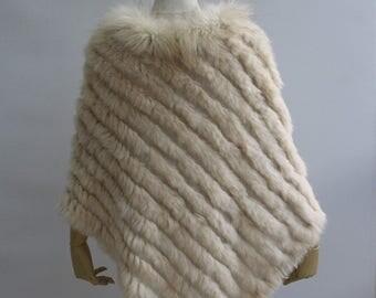 Rabbit Fur Poncho