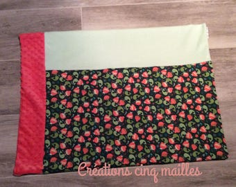 Pillowcase pillow / minky soft cotton