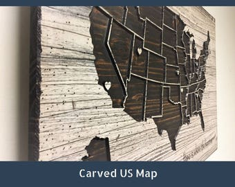 Push Pin Map Etsy - Us wall map where you put your pictures on