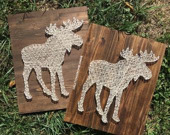 Moose String Art Sign, MADE TO ORDER