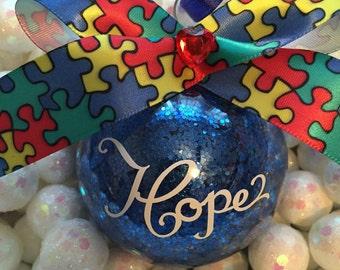 Autism Awareness Ornament, Christmas Ornament, Awareness Ornament, Autism Speaks, Asperger Ornament, ASD Ornament, Autism Awareness