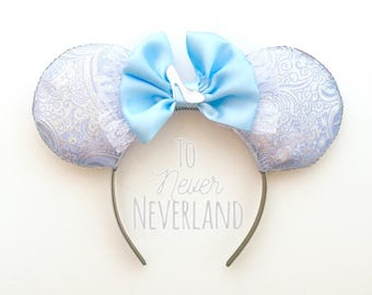 Cinderella Ears, Cinderella Mickey Ears, Princess Ears, Cinderella Disney Ears, Mickey Ears, Disney Ears Headband, Mickey Ears Headband