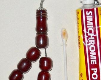 Antique Cherry Amber Bakelite Prayer Beads 75 gram