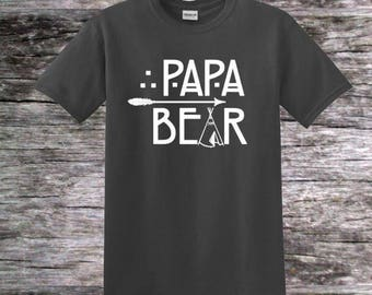 Papa Bear; Custom Father's Day Shirt; Family Shirt