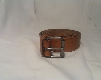 Vintage 1960's Bulgarian Army Soldier Leather Belt - NEW