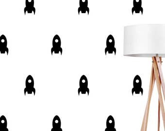 Rocket Wall Decals, Wall Stickers, Rocket Wall Stickers, Rocket Pattern, Kids Wall Decal, Kids Room Decal, Pattern Wall, Rocket Decals,