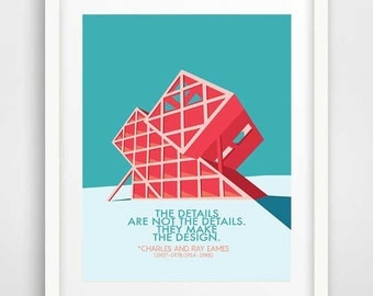 Charles and Ray Eames, cool posters, mid century modern art, best quotes, large art prints, American architecture, industrial design