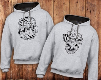 Ravenclaw, Hufflepuff Hoody, Harry Potter Hogwarts house, Quiditch Teams