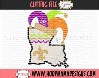 Mardi Gras Louisiana Jesters Hat SVG DXF eps and png Files for Cutting Machines Cameo or Cricut ...