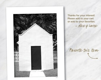 Small Building Key West Lighthouse, Key West, Florida. Signed 12x18 Black & White Fine Art Photo Matted to 18x24