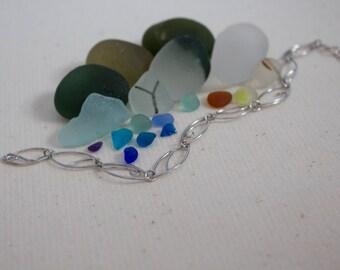 Oval Bracelet - Sterling Silver Bracelet - Jewelry - Chain Bracelet - UK Handmade - Sterling Silver - Oval - Swirl - Detailed