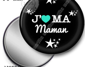 Pocket mirror I love my mum